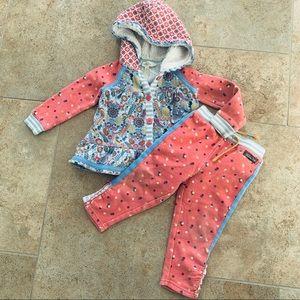 Matilda Jane Jogging Suit w/ Sherpa Hood